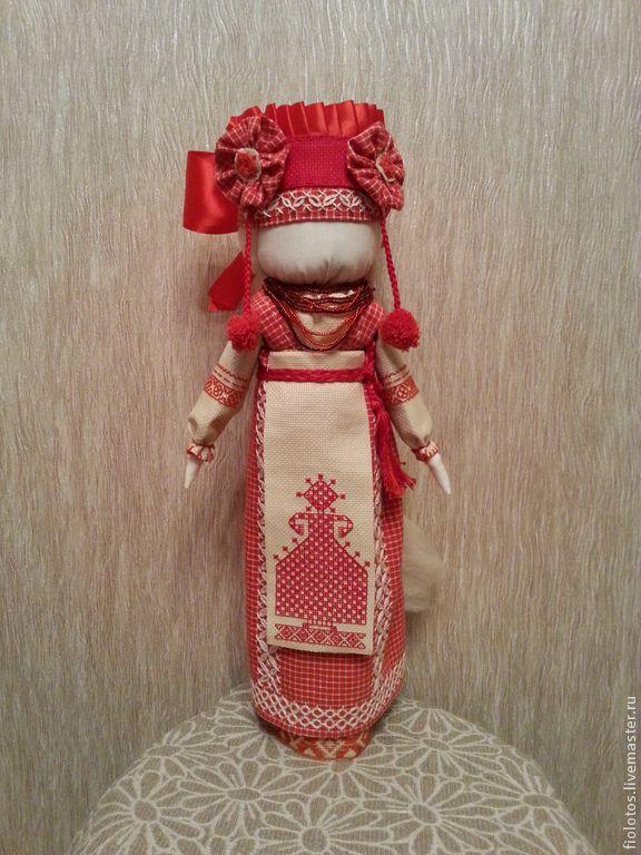 Купить Кукла-оберег. Лада. - коралловый, кукла-оберег, кукла ручной работы, кукла в подарок