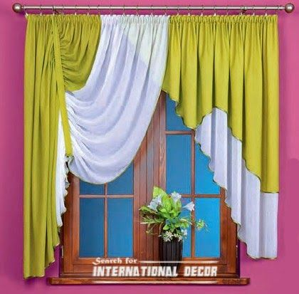 Unique Curtain designs, French curtain models in green | Curtain designs