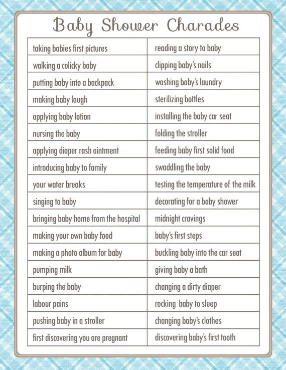 Superb CHARADES Baby Shower Game In A Vintage Style With Blue Accents, Diy  PRINTABLE Charades Party Game, Fun Shower Activity, 13BA