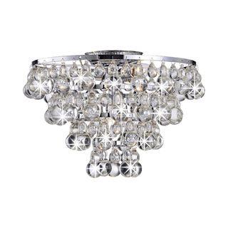 Indoor 3-light Chrome/ Crystal Chandelier - Overstock Shopping - Great Deals on Chandeliers & Pendants