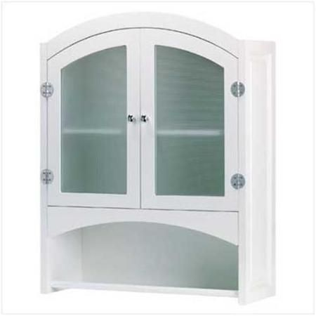 Swm 35013 Wood Bathroom Wall Cabinet White