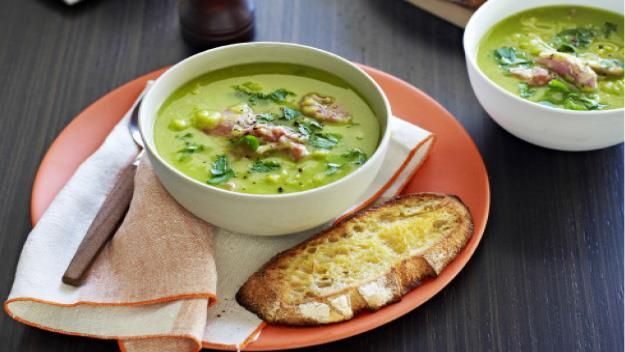 Relive your favourite pea and ham soup with this simple recipe. Serve with crusty bread for a delicious dinner (let's just hope there's enough for leftovers).