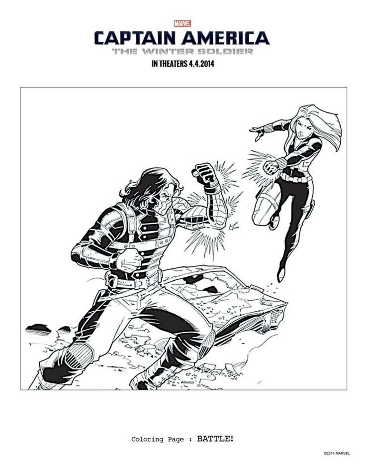 8 captain america the winter soldier coloring sheets to