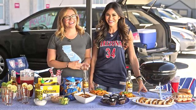 Pregame Like a Pro With the Ultimate Tailgating Menu No matter who you're cheering for, having the ultimate tailgating menu can make watching any sports match truly epic. This menu is your ticket to game-day bliss. http://www.monkeysee.com/play/27956-pregame-like-a-pro-with-the-ultimate-tailgating-menu