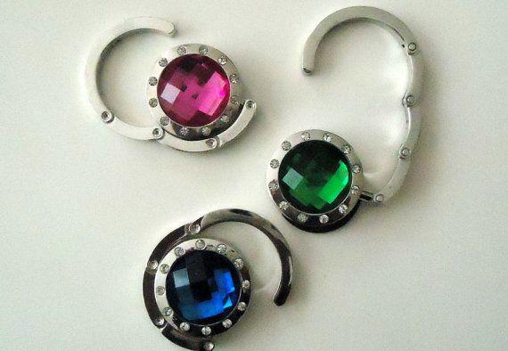 1 of  Purse  Hook  Hangers  with Swarovski crystal. by Metinbags, $18.00