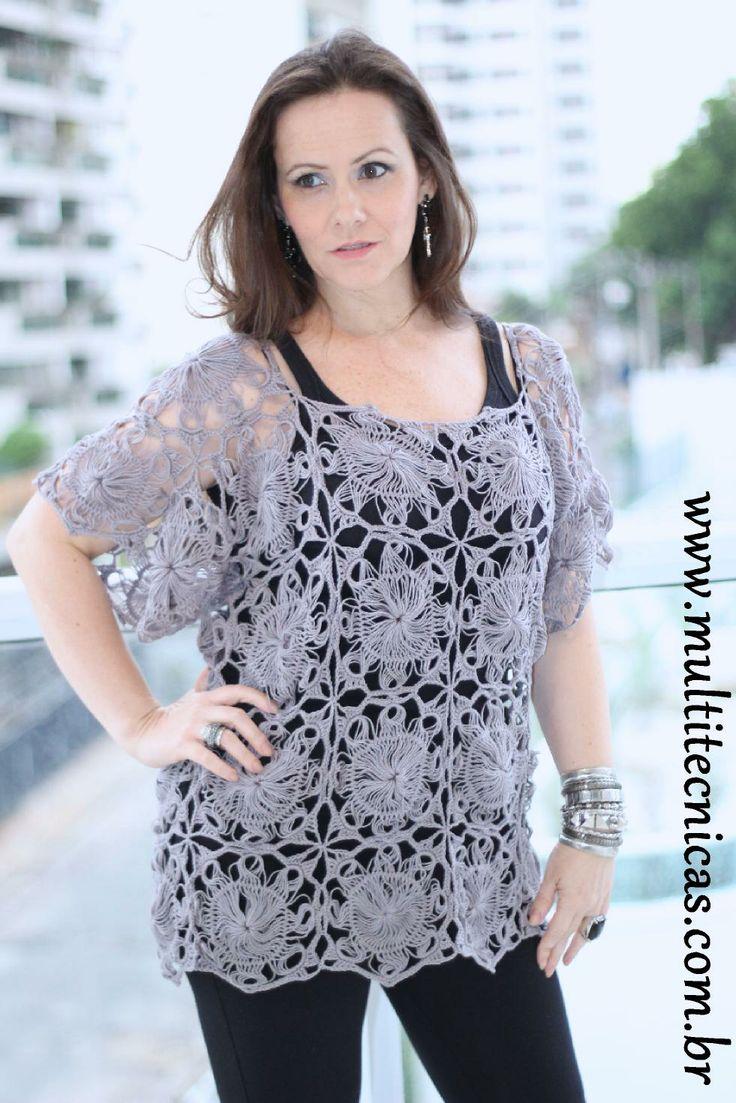 Free pattern Hairpin lace Receita gratuita crochê de grampo