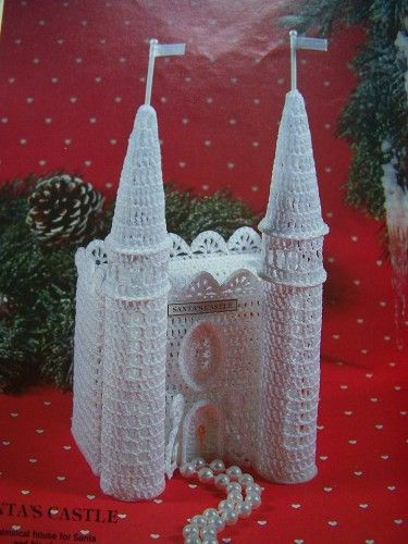 Crochet Thread Christmas Village | Crochet Patterns Christmas Victorian Gingerbread Houses Town Village