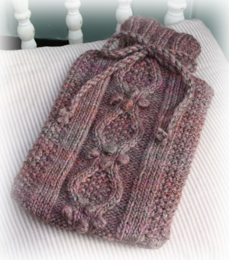 Orchard Hot Water Bottle Cover Knitting Kit