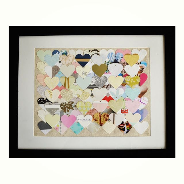 Make a collage out of your wedding cards into a piece of art for your home. #wedding #crafts #DIY #art