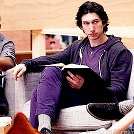 Adam Driver at the first coffee table read for TFA
