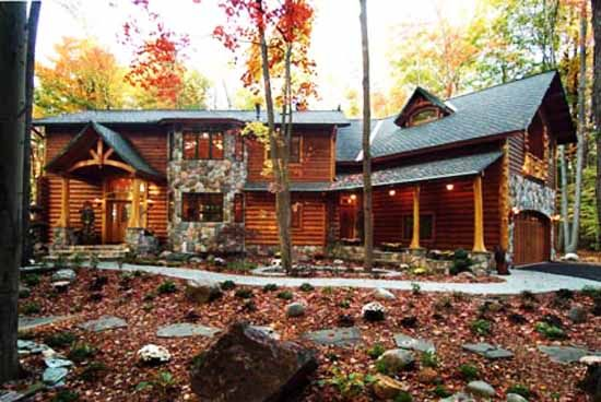 Best 25 log home decorating ideas on pinterest log for Contemporary log homes
