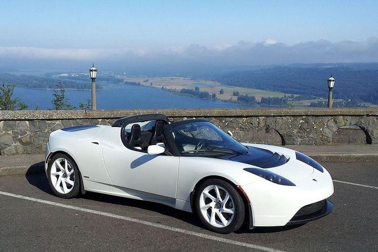 White Tesla Roadster