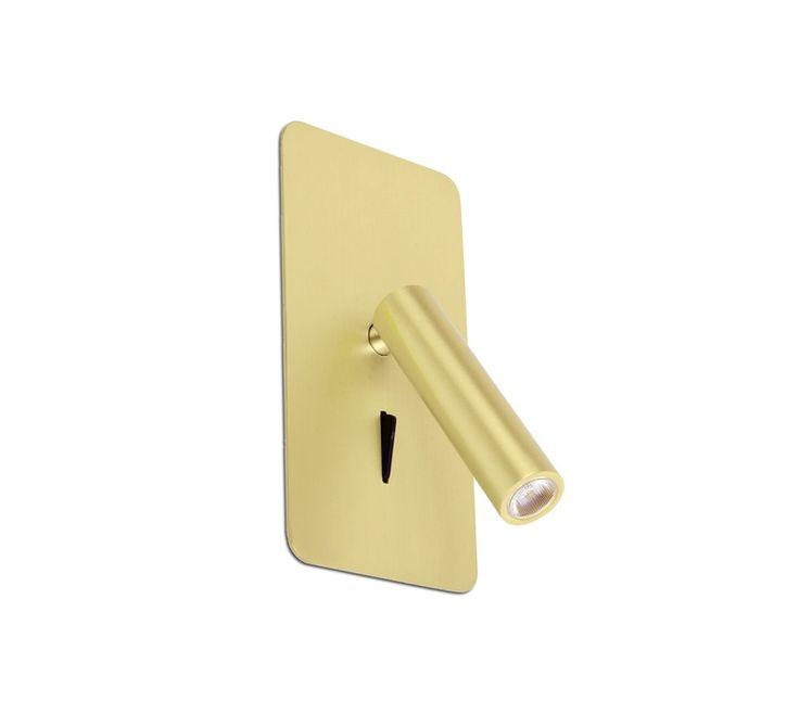 L'applique liseuse, chrome, SUAU LED est créée par le groupe de designers espagnols Nahtrang.  #applique #liseuse #chambre #walllight #readinglight #bedroom #led #hotel #hostel #or #gold #têtedelit #bedside #orientable #rotative #encastrable #recessed #faro #nahtrang