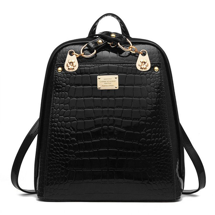 Stylish Fashion Leather Travel School Backpack 6 Colors
