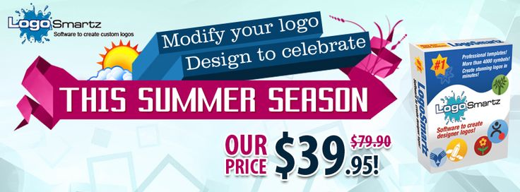 Logosmartz Special Summer Offer on Logo Software Products. Get Logosmartz at $39.95 only. Also get flat 50% OFF on all other Products including Logo making software for Mac, Business Stationery Pro, Corporate Identity Designer. Order now!!