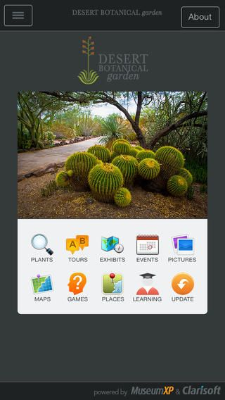 Desert Botanical Garden App - on iPhone