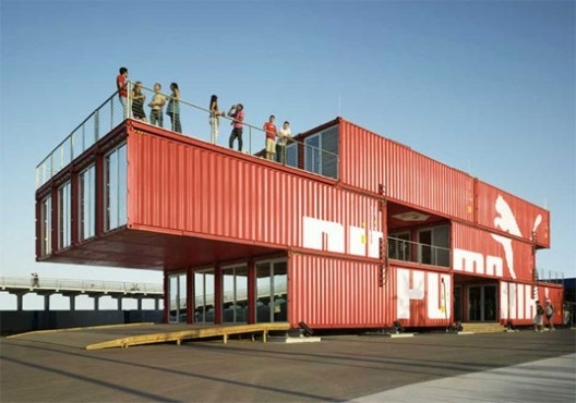 Thinking out side of the box! PUMA City, Shipping Container Store / LOT-EK #arkitektur #architecture #puma #concept