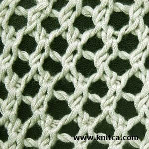 Here is a simple yet cute mesh pattern - perfect if you want to make a light sweater / cardigan / shrug for hot summer days and cool summer nights. This pattern is easy to knit and easy to remember, so you can knit on the go. If you choose bamboo yarn for your project (as I did) you'll feel comfortable whole summer.