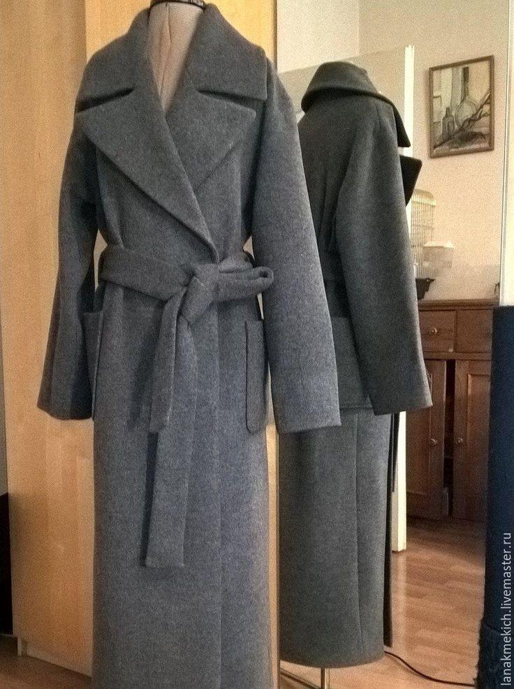 """Купить Пальто- халат с поясом """"Городская мода"""" в интернет магазине на Ярмарке Мастеров"""