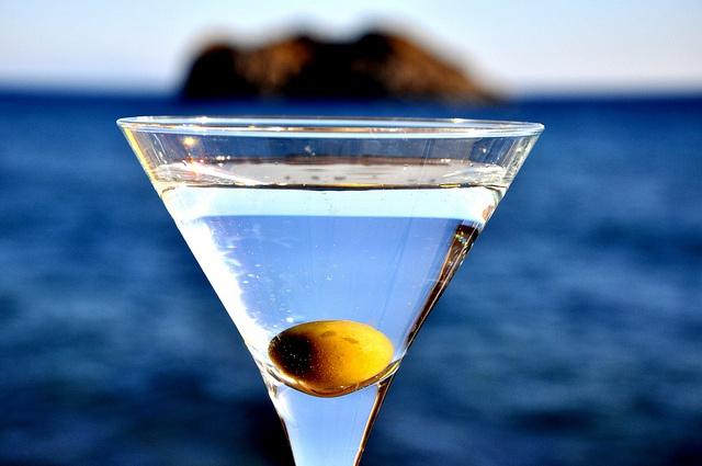 Having a cocktail in Skala Eresos, Lesvos, Greece - such a fun view.