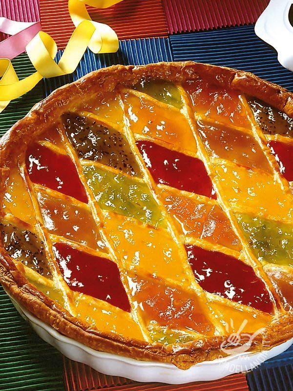 Tart Harlequin jams gluten-free - Questa Crostata di Arlecchino alle marmellate, senza glutine, è buonissima, semplice da preparare e genuina. Colorata e allegra, piacerà a grandi e bambini
