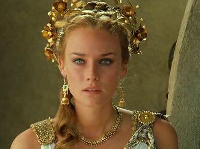Diane Kruger jouant Hélène de Troie dans Troie un film de 2004