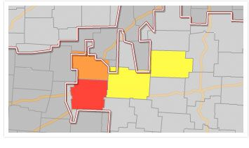 Outage Map - after Oklahoma Tornado