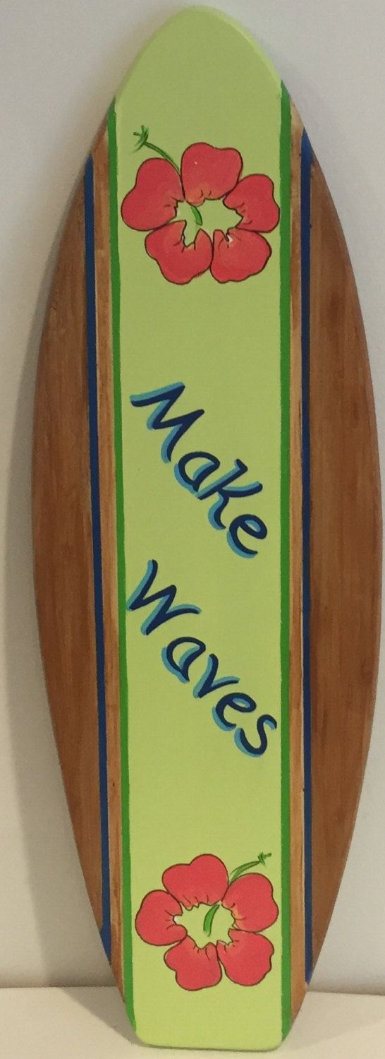 303 best party decor images on pinterest centerpieces kite and bamboo wood wooden surf surfboard art wall decoration prop wall sign personalized by surfboardbeachart on etsy amipublicfo Images