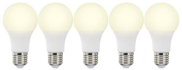 5x Basetech LED E27 für 10€ - einfarbig, EEK: A+, 10W = 60W warmweiß *UPDATE4*