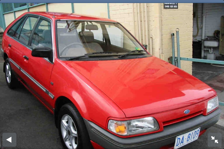 1986 Red Ford Laser 1.6