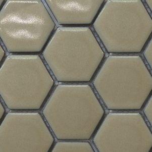 Caramel Hexagonal Mosaic Tiles 48mm - Tiles - Surface Gallery #hexagonmosaics #hexagon #mosaic #tiles