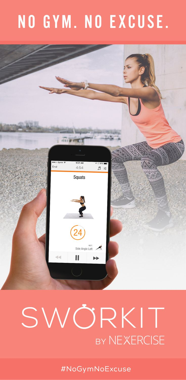 "It's like ""Spotify for Video Workouts"". Specify the exact time you have to workout and just follow along with your OWN music. Skip any exercise you can't do. Don't waste time searching... ""Simply work it"" #NoGymNoExcuse"