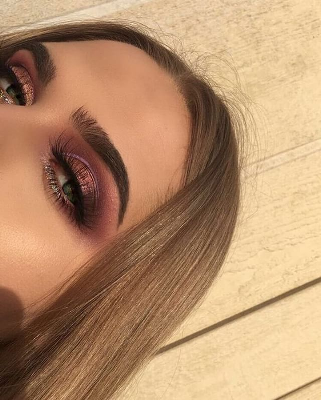 A look featuring Modern Renaissance @jahdefinitelyfeel BROWS: #Dipbrow in Medium Brown EYES: #ModernRenaissance palette using tempera, love letter, cypress umber, and primavera, single shadow in deep plum #anastasiabeverlyhills