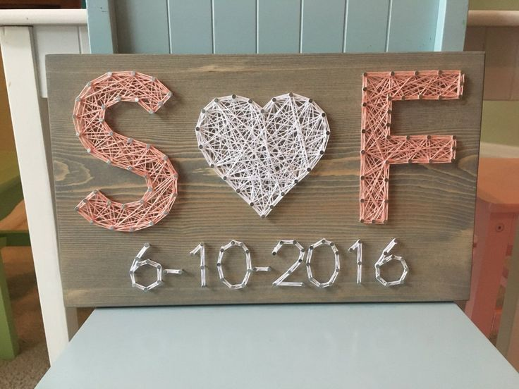 Wedding/Anniversary String Art Sign, Date Art, Wall decor, Personalized gift for…