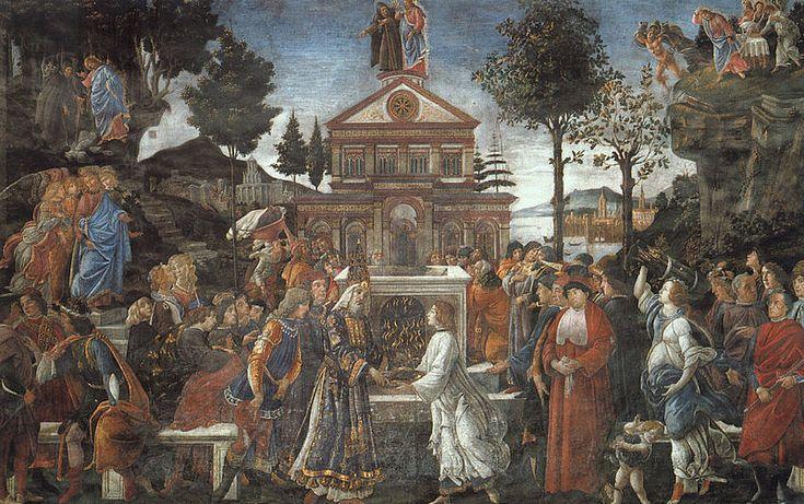 Prove di Cristo - 1481-1482 - affresco - 345,5x555 cm - Città del Vaticano, Cappella Sistina