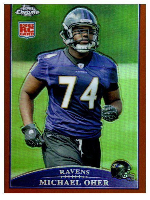 2009 Topps Chrome Michael Oher Rookie Refractor Copper Border /649 Ravens
