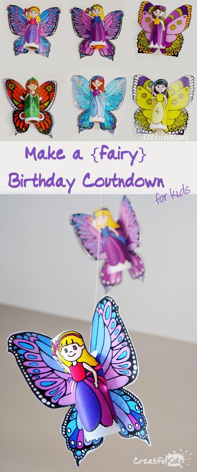 Kids Birthday Craft Part - 33: Make A Fairy Birthday Countdown For Kids