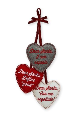 Buy Set Of 3 Felt Hearts from the Next UK online shop