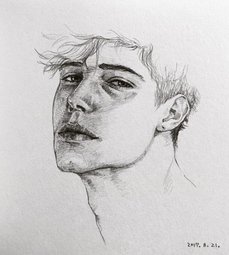 Gesicht Skizze