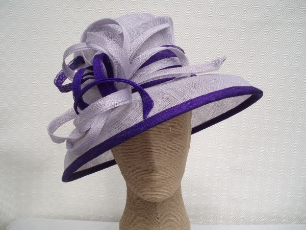 Louise Oliver - Aintree Lilac & Purple Ladies Hat