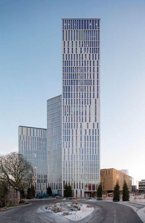 Malmo Live by Schmidt Hammer Lassen #toren #appartementen #kantoor #hotel #gevel #compositie #patroon