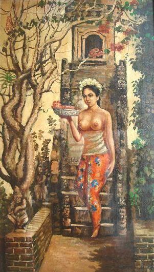 Lee Man Fong - Balinese woman after pray.