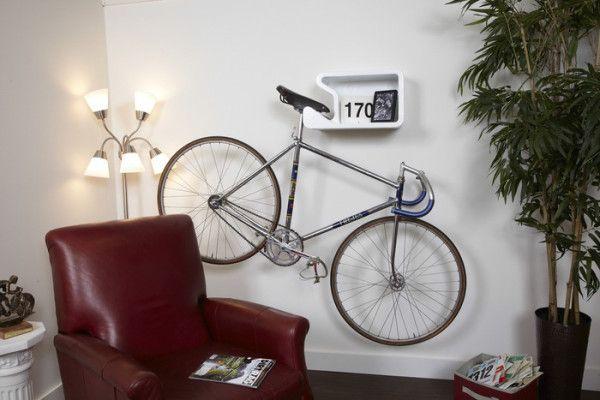 SHELFIE Bike Rack Also Holds Your Helmet - Design Milk