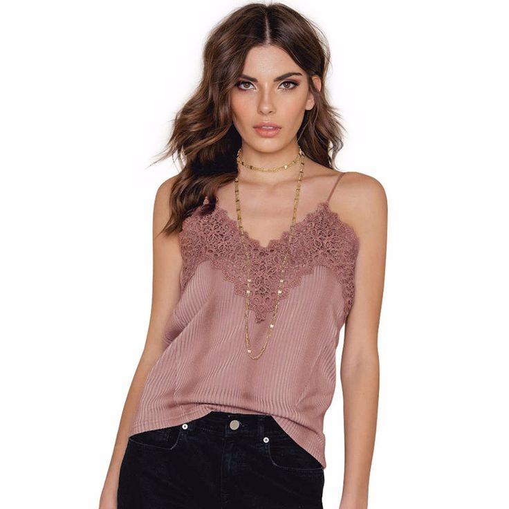Pink Lace Slip Style camiseta mujer Sexy  Women Casual Cheap Clothes China feminino mono mujer corto Tee