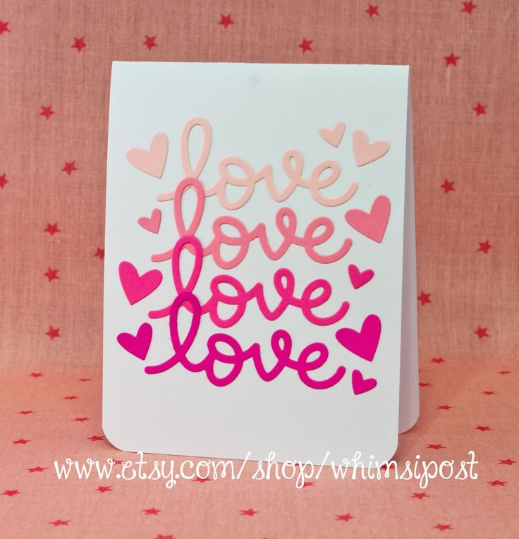 lawn fawn scripty love hearts lawn cuts dies _ simply fabulous ombre look valentine day cardsholiday - Pinterest Valentines Cards