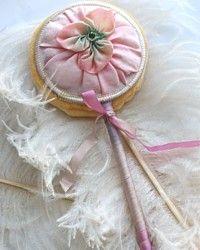 Antique silk powder puff.: Powder Puff, Antiques Silk, Work Powder, Silk Powder, Pink Silk, French Pink, Silk Ribbons, Ribbons Work, Antiques Powder