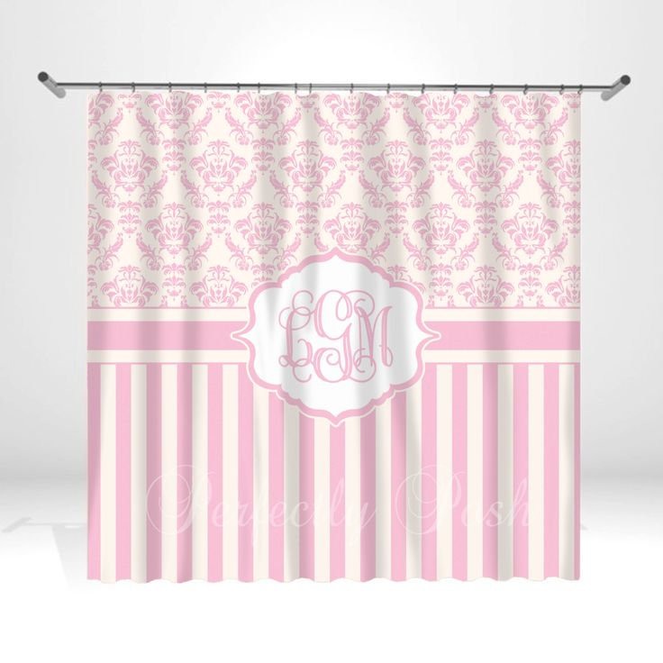 Personalized Pink Shower Curtain by ItsPerfectlyPosh on Etsy https://www.etsy.com/listing/154474777/personalized-pink-shower-curtain