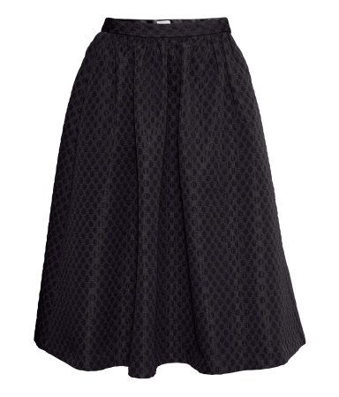 wide skirt in black | H&M GB