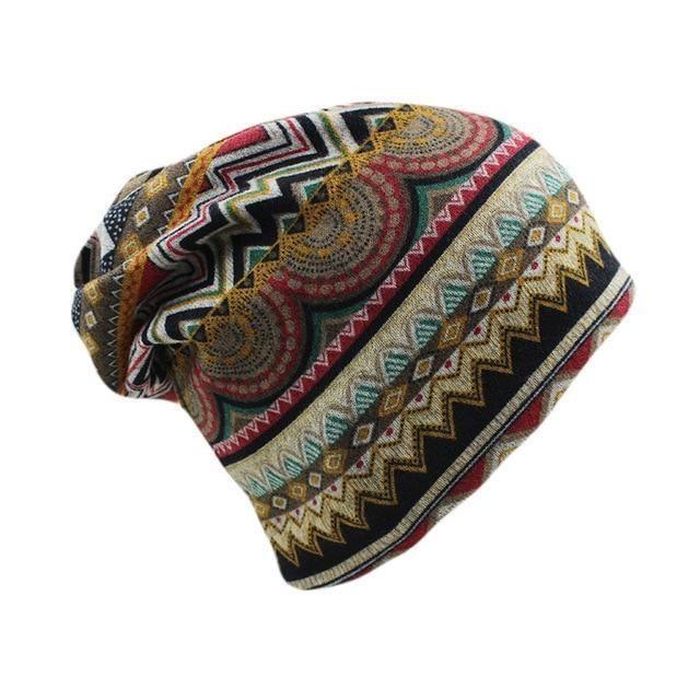 Women Lady Hip Hop Floral Winter Cap Scarf Adult Polyester Autumn Hat Headdress