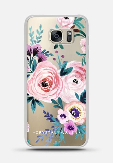 Moody-Victoria-Flower-Romance-Soft Galaxy S7 Edge Case by Crystal Walen…